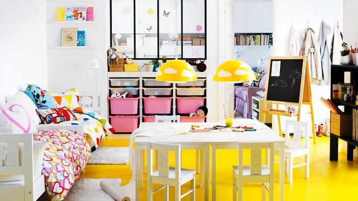 habitacion infantil iluminacion