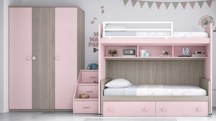 Fotos de habitaciones infantiles y juveniles de color rosa - Habitacion infantil rosa ...