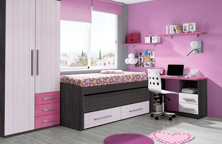 Color habitacion infantil cool infantiles color rosa - Habitacion infantil rosa ...